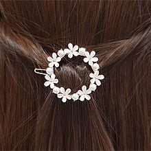 54817边夹顶夹, 植物花 珠子 珍珠 椭圆形 圆形 一字扣 弹簧夹