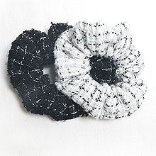 54855发圈发绳, 平面/立体几何图形, 其他形状大肠发绳  格子 圆形