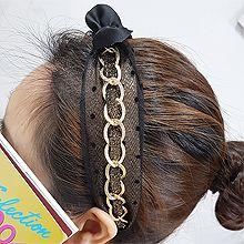 54871发箍发带, 蝴蝶结, 平面/立体几何图形, 其他形状蝴蝶结  圆形  珍珠  椭圆形 锁链 圆点 发箍