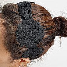 54876发箍发带, 心形, 植物, 平面/立体几何图形, 其他形状花 打结 发箍  圆形 心形 缠绕 镂空