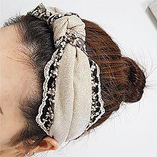 54877发箍发带, 植物, 平面/立体几何图形, 其他形状打结  花 叶子 蕾丝 S形 波浪 发箍