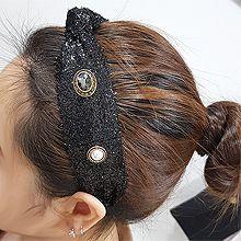 54881发箍发带, 平面/立体几何图形, 其他形状打结 圆形 珍珠  珠子 椭圆形  毛毛   发箍