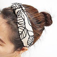 54883发箍发带, 植物, 平面/立体几何图形, 其他形状叶子 椭圆形 打结 发箍  波浪 S形