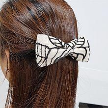 54885边夹顶夹, 蝴蝶结, 植物, 平面/立体几何图形, 其他形状蝴蝶结 叶子 波浪 S形 弹簧夹