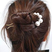 54910发簪U形 珍珠 珠子