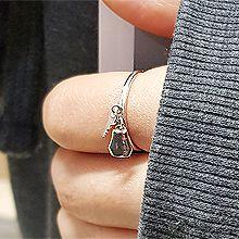 54872锁具, 平面/立体几何图形, 其他形状钥匙 锁 圆环 多边形 整件925银
