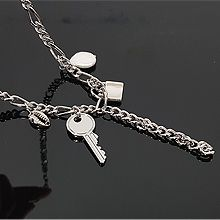 54832锁链形, 单层链, 动物, 锁具, 平面/立体几何图形, 其他形状锁 钥匙 珍珠 锁链 椭圆形
