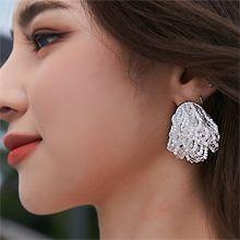 56303耳钉式, 植物流苏 珍珠 珠子
