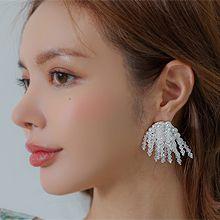 56304耳钉式珠子 珍珠 流苏