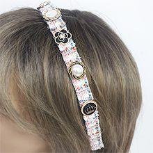56351发箍发带, 植物花 皇冠 格子 发箍 圆形 珍珠 珠子