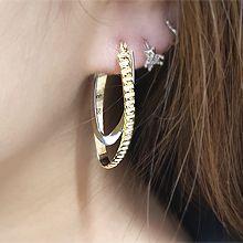55089耳钉式, 耳圈耳扣椭圆形 C形