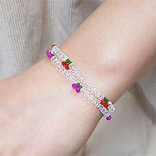 55065穿珠链, 单层链, 植物樱桃 珠子