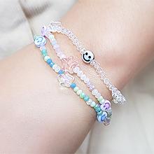 55066穿珠链, 单层链, 天体自然现象星星 笑脸 珠子