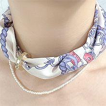 55002珠仔链, 绳子形绳子 珍珠 珠子 双层 布