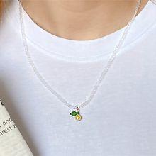 55067穿珠链, 单层链, 植物, 食物/饮料樱桃 苹果 珠子