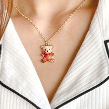 55104锁链形, 单层链, 蝴蝶结, 动物熊 蝴蝶结