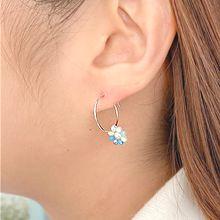 55109耳圈耳扣, 植物珠子 花 珍珠