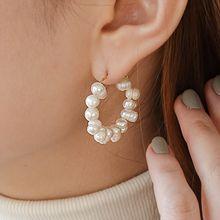 55110耳圈耳扣天然珍珠 珠子