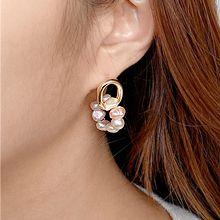 55111耳钉式椭圆形 天然珍珠 珠子