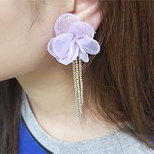 55156耳钉式, 植物花 流苏
