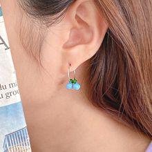 55158耳圈耳扣, 植物珠子  樱桃