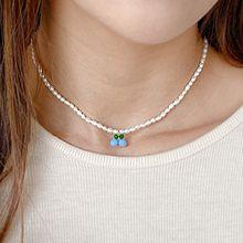 55162穿珠链, 单层链, 植物天然珍珠 樱桃 珠子