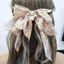 55201边夹顶夹, 蝴蝶结, 植物蝴蝶结 花 珍珠 珠子 弹簧夹