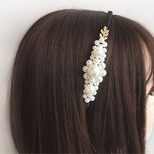 55262发箍发带, 植物发箍 叶子 珍珠 珠子