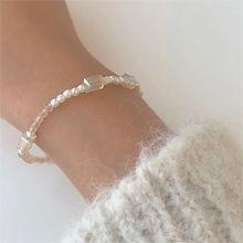 55149穿珠链, 单层链长方形 珠子 珍珠