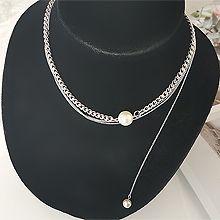 55135锁链形, 多层链两件套 三层 珍珠 珠子