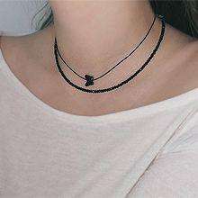 55151绳子形, 穿珠链, 多层链, 动物蝴蝶 珠子 两件套