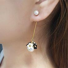 55304耳�式, 植物花 珍珠 珠子 后�焓�