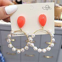 55310耳�式�A�h 珠子 珍珠 水滴形