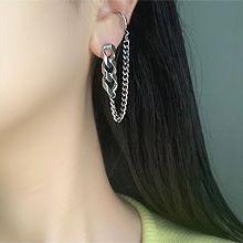 55322耳钉式, 耳夹锁链 不对称