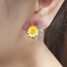 55334耳钉式, 植物花 透明
