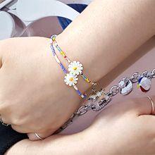 55371穿珠链, 单层链, 植物花 珠子