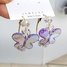 55394耳圈耳扣, 动物蝴蝶 珠子