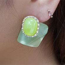 55439耳钉式长方形 椭圆形 圆形 珍珠 珠子