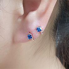 55455耳圈耳扣正方形 整件925银