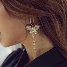55459耳圈耳扣, 动物蝴蝶 珍珠 珠子