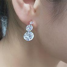 55474耳钉式圆形 整件925银