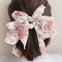 55330边夹顶夹, 蝴蝶结, 植物蝴蝶结 花 弹簧夹 珠子 珍珠