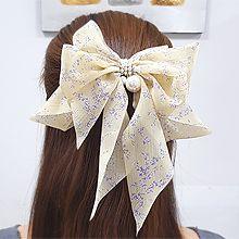55438边夹顶夹, 蝴蝶结, 植物花 弹簧夹 珍珠 珠子