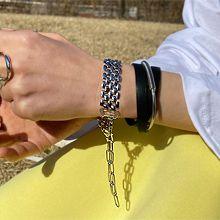 55472带子表带, 单层链手表带形