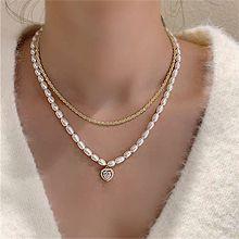 55311穿珠�, 多�渔�, 心形心形 �E�A形 天然珍珠 珠子 �杉�套