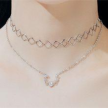55433锁链形, 多层链菱形 正方形 花 水滴形 双层