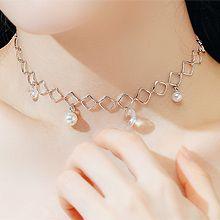 55434单层链, 其他分类特征, 心形菱形 正方形 珠子 珍珠 心形