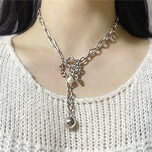 55458锁链形, 单层链圆球 珍珠 珠子 圆环