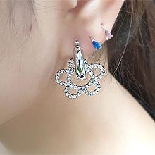 55485耳圈耳扣, 植物圆环 花
