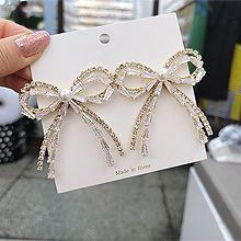 55584耳钉式, 蝴蝶结蝴蝶结 珍珠 珠子 长方形